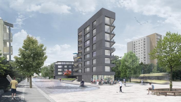 Geplantes Neubauprojekt Gluckstraße / Fetscherstraße