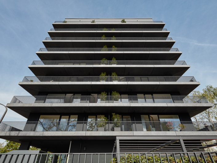 Fassadenansicht des Neubaus